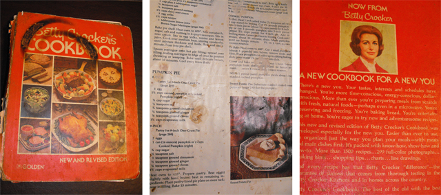 Betty Crocker Pumpkin Pie vintage recipe