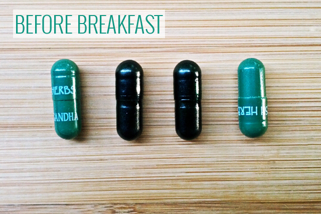 supplements before breakfast