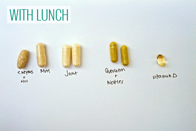 supplements with lunch