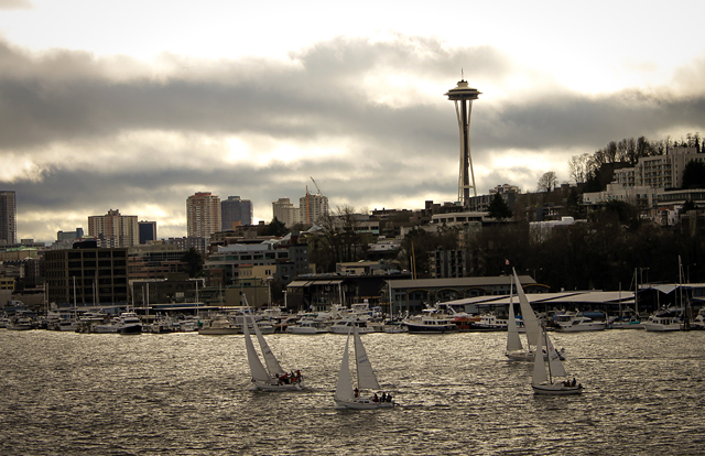 Seattle Sailboat Space Needle