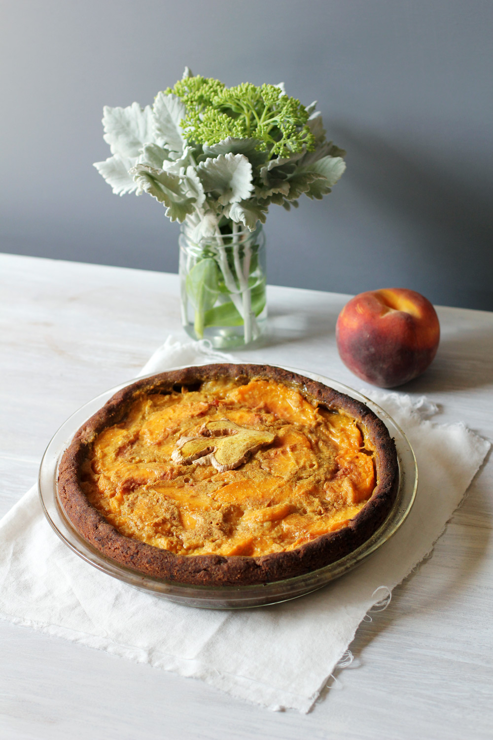 Ginger and Turmeric Peach Pie