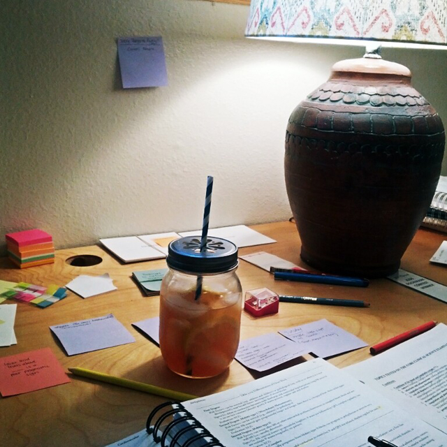 iced tea while studying