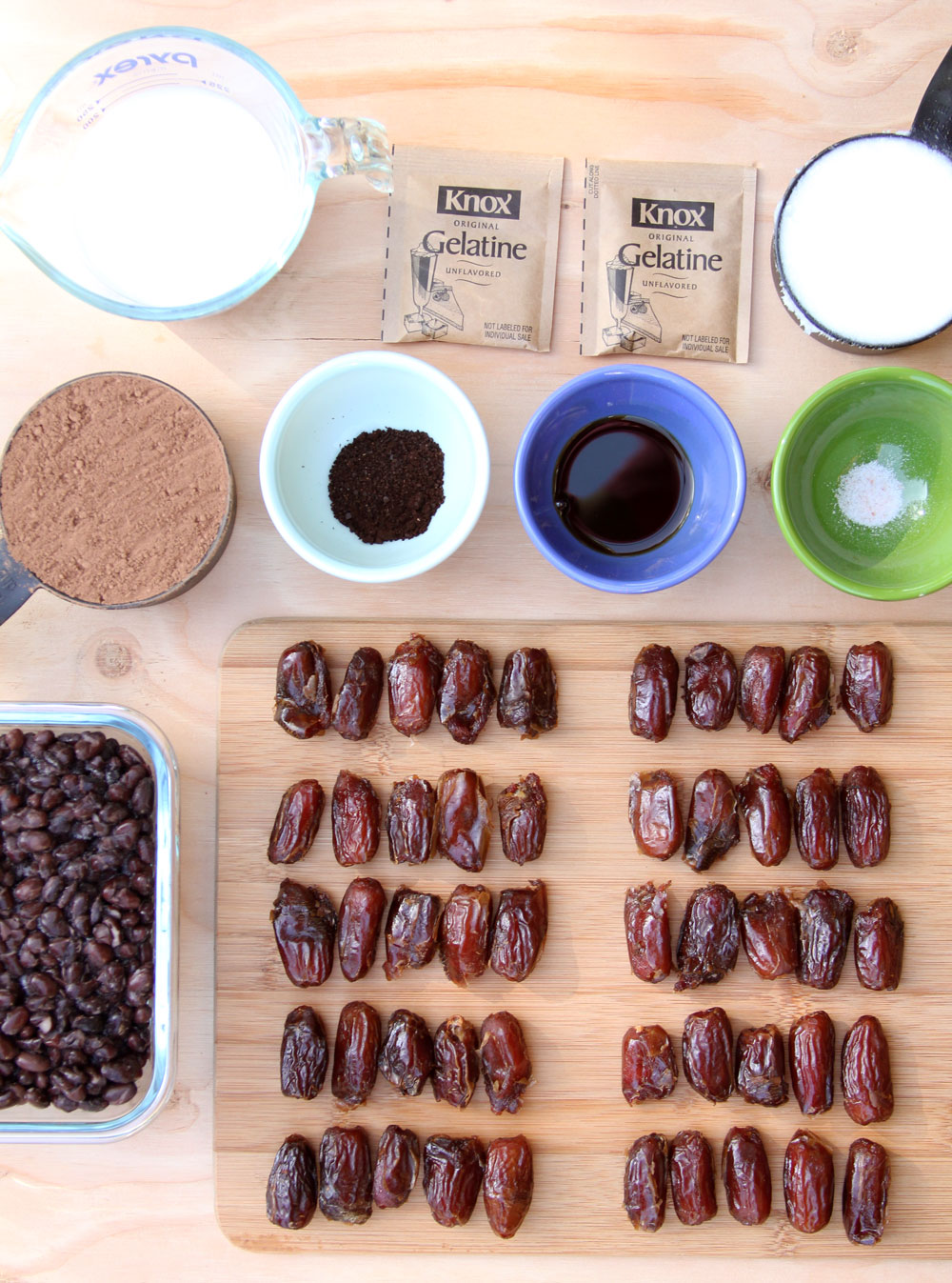 classic black bean brownies ingredients