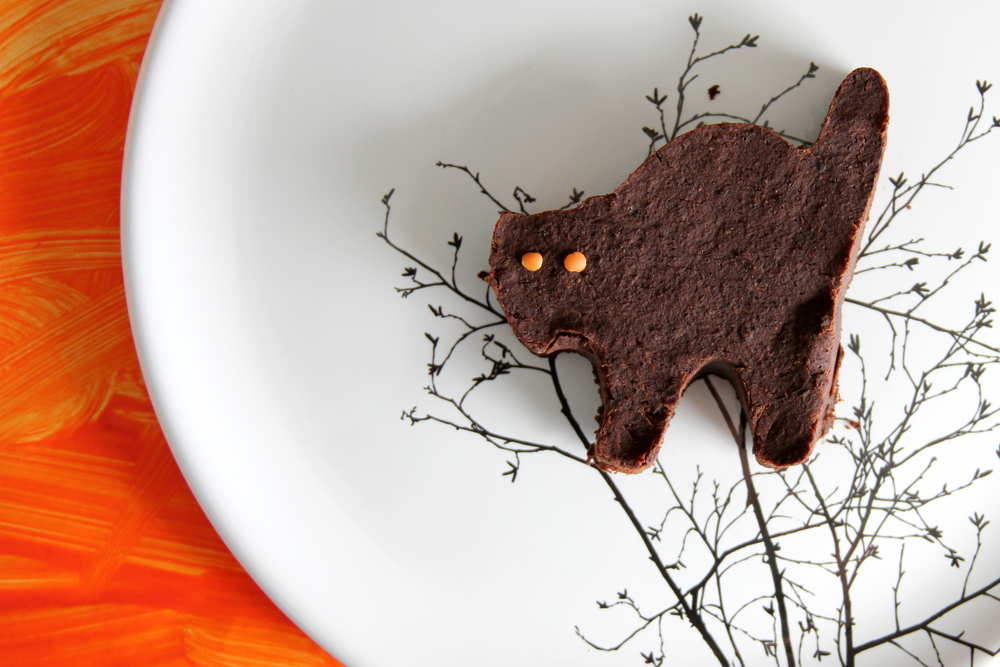 scaredy cat halloween brownies