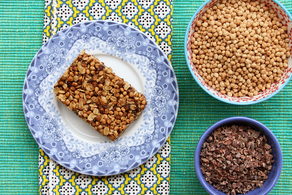 Sweet & Salty Chocolate Chai Granola Bars