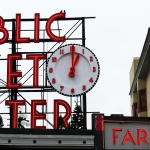 run with time clock pike place public market center