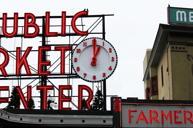 exercise your life run with time clock pike place public market center