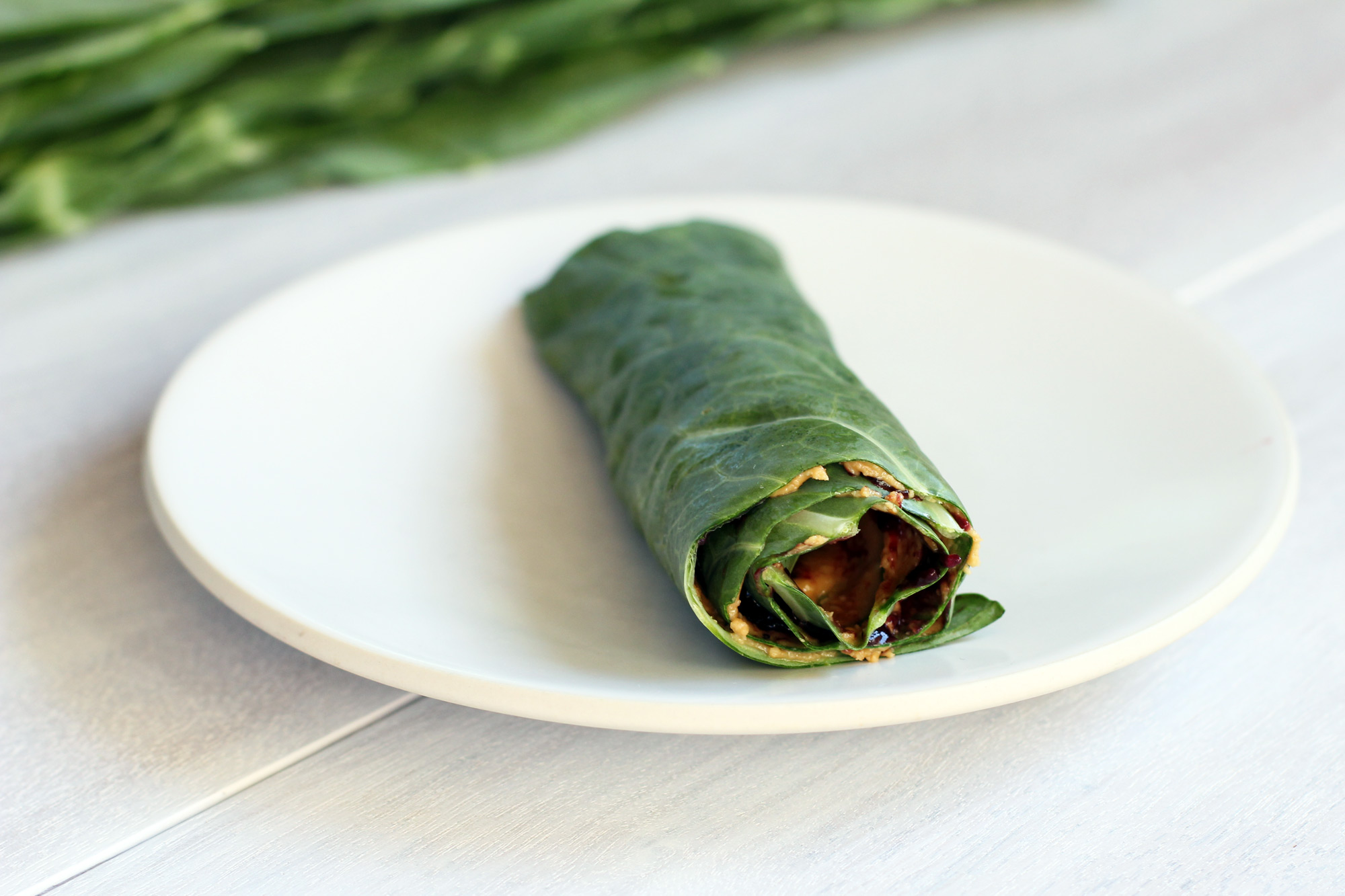 peanut butter and jelly collard roll-up