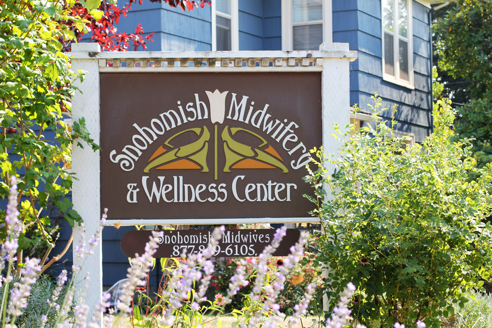 new office sign snohomish midwives and wellness center