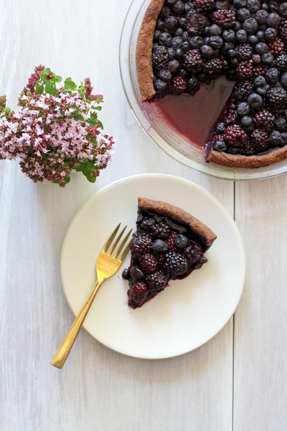 blueberry blackberry pie slice