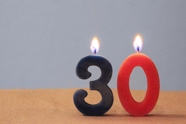 30th birthday candles