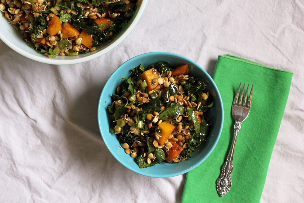 Sprouted Lentil and Yellow Beet Salad