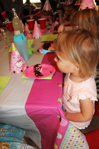 girls birthday party cake