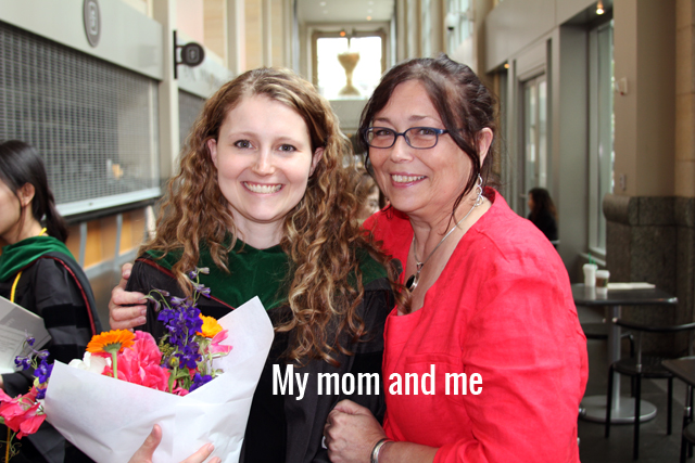 My mom and me after graduation