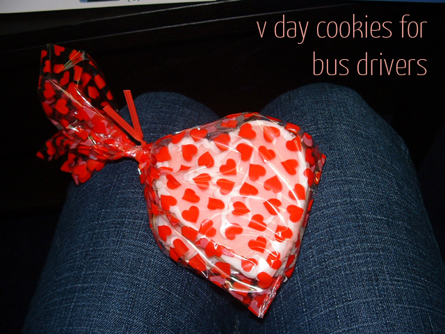 v day cookies for bus drivers