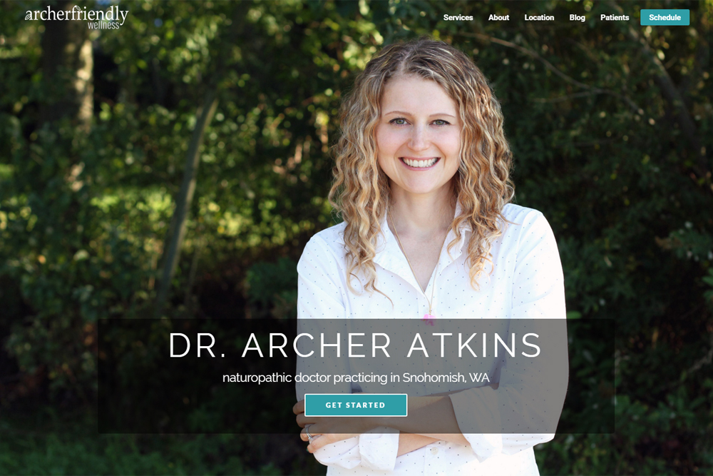 Archerfriendly Wellness website