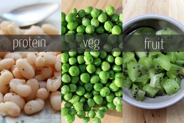 protein veg fruit